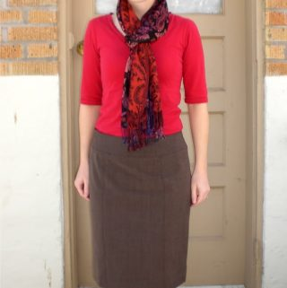 Simplicity 2475: Brown Pencil Skirt