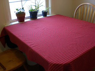 Red-striped Tablecloth