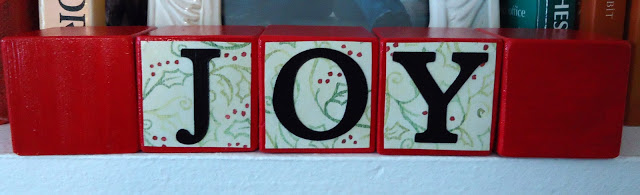 Christmas Letter Blocks