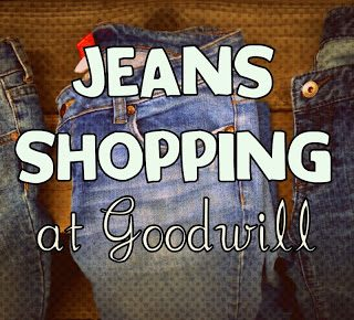 Jeans Shopping at Goodwill