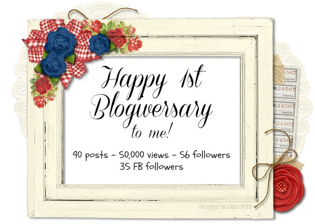 Happy 1st Blogiversary and Giveaway