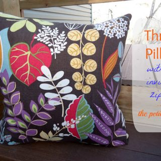Tutorial: Throw Pillows with Invisible Zipper