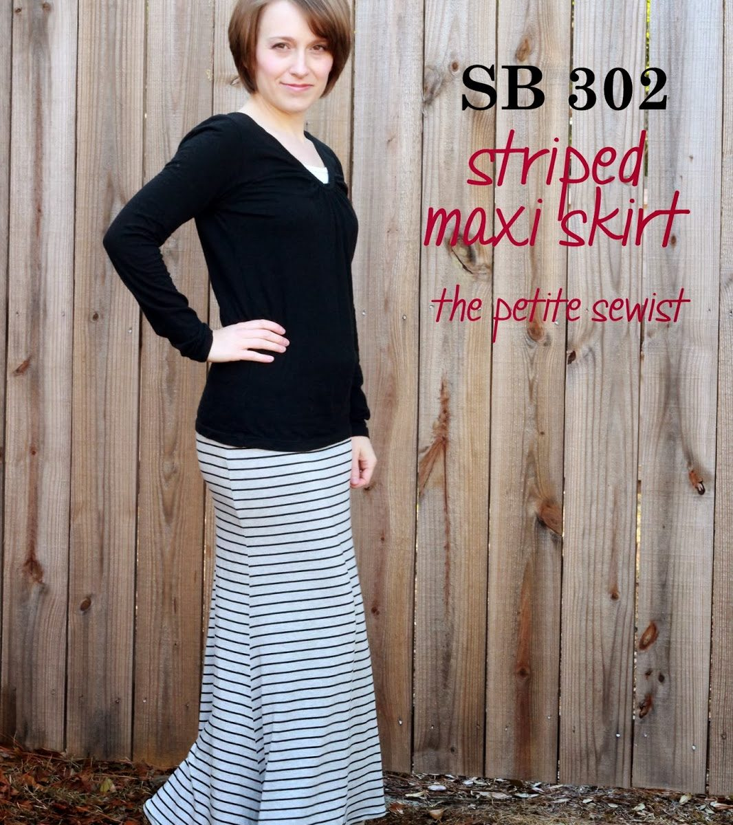SBCC 302 Striped Maxi Skirt