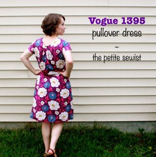 Vogue 1395 Rayon Challis Dress