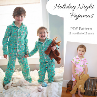 Holiday Night Pajamas ~ Sew a Little Seam