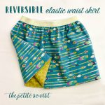 Reversible Elastic Waist Skirt