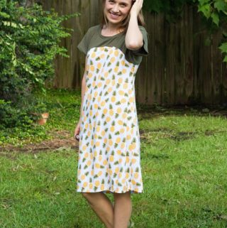Allium Dolman Dress Pattern Review