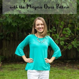 DIY Bell Sleeve Tutorial | The Marjorie Dress Pattern