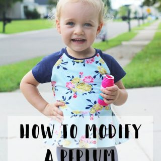 Easy Peplum Hack | How to Modify a Peplum