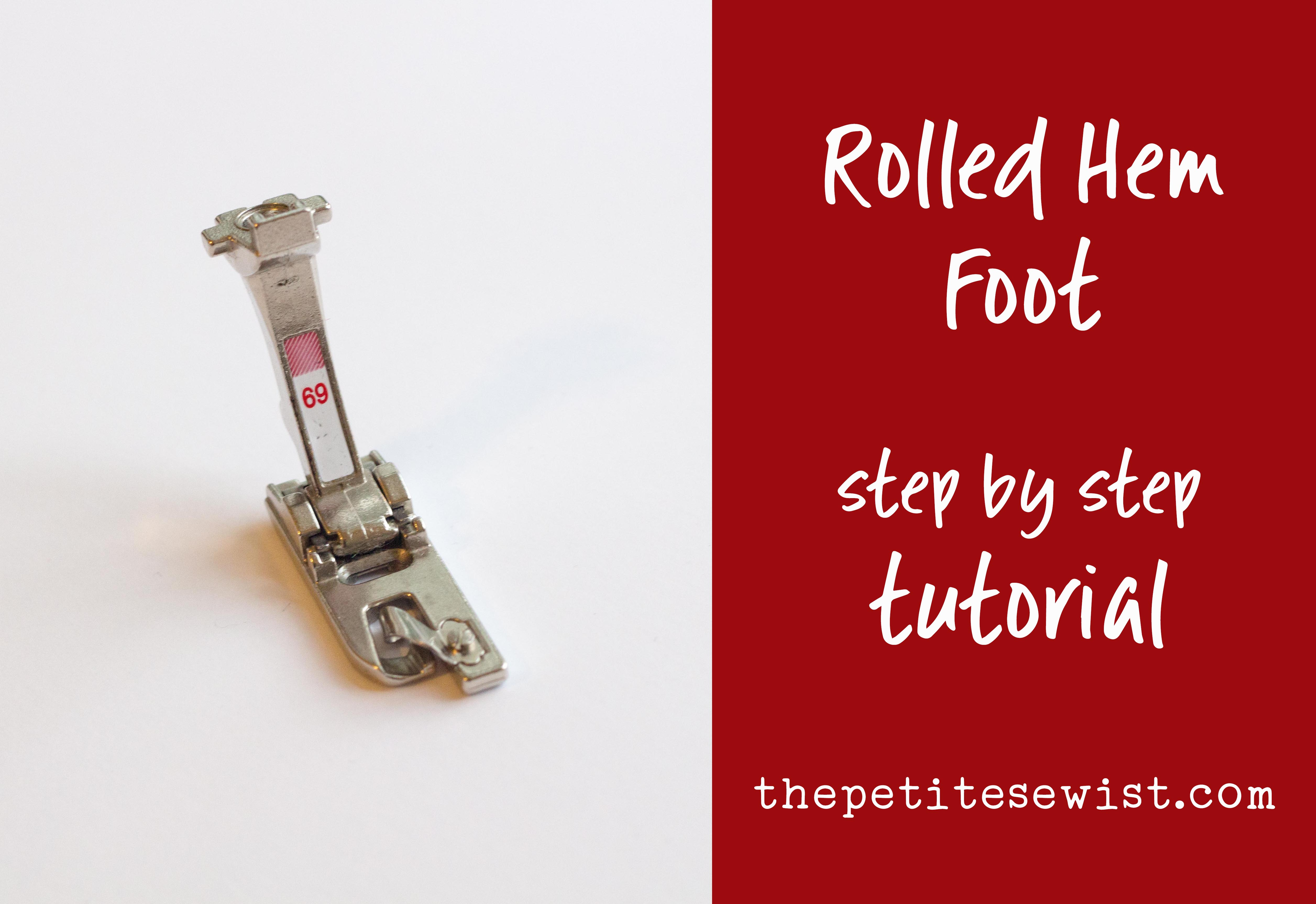 how to sew a rolled hem tutorial