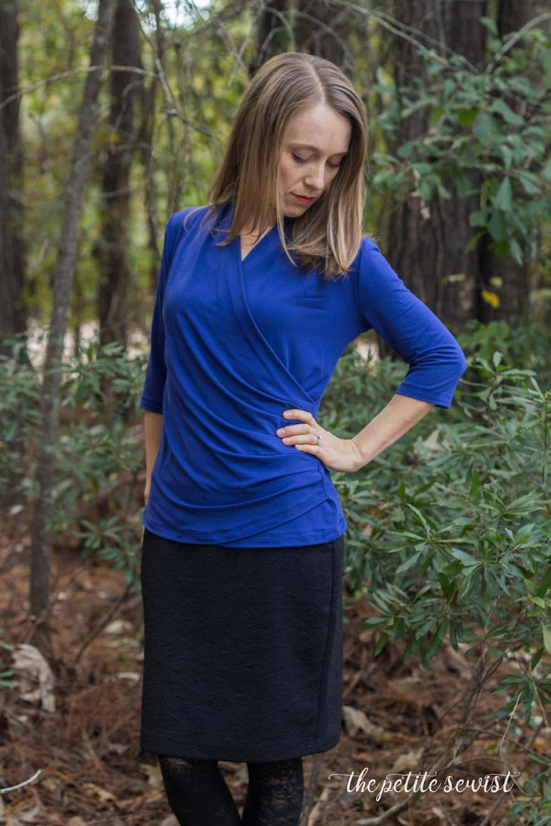 Brasov Wrap Top - Sewing Pattern by Itch to Stitch, made by Thepetitesewist.com