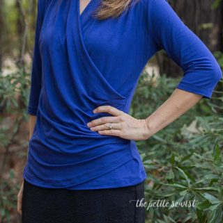 Brasov Wrap Top – Itch to Stitch Blog Tour