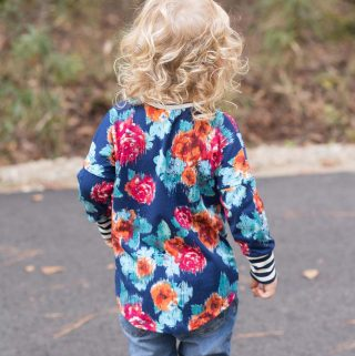 Baby Lulu Dolman Sweater by Petite Stitchery