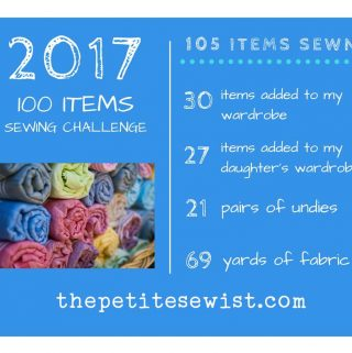 100 items sewing challenge as sewn by thepetitesewist.com