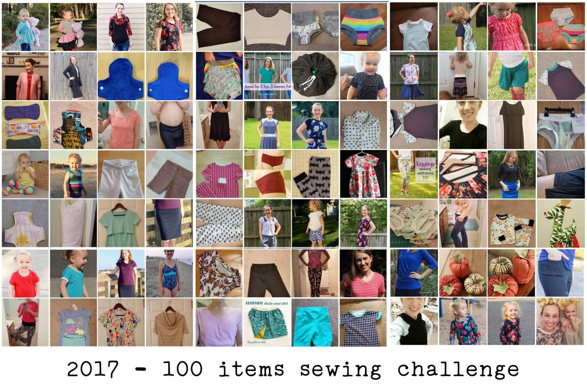 100 Items sewing challenge - thepetitesewist.com