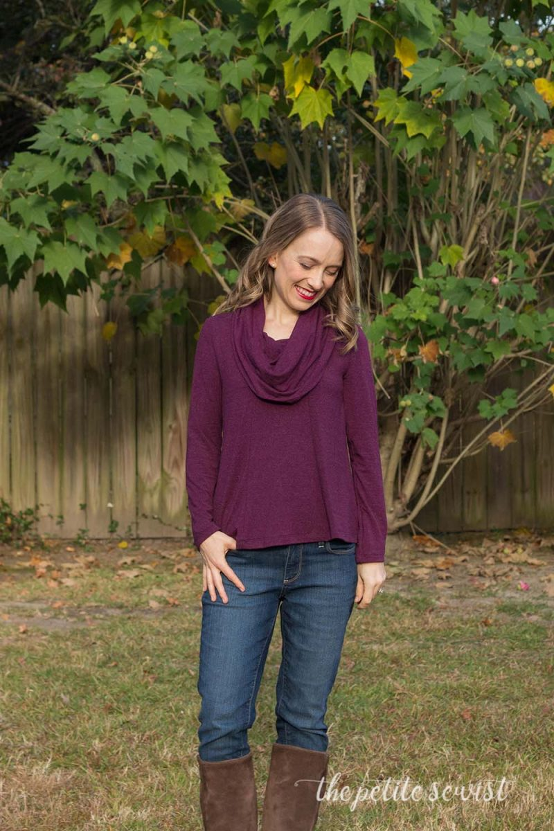 Bellavista Top by Itch to Stitch Patterns, pattern review by The Petite Sewist