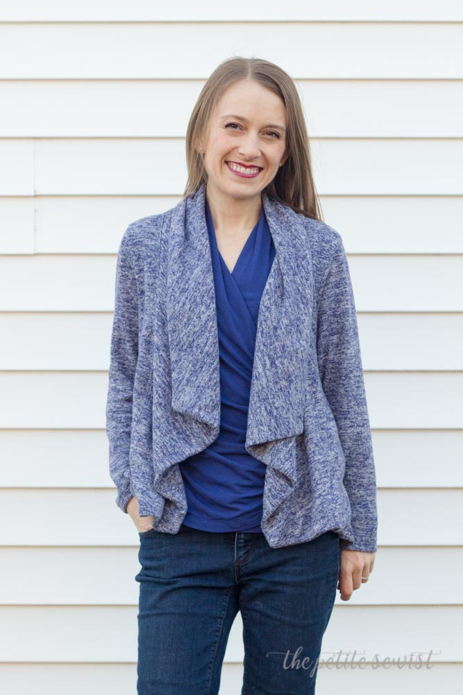 McCall's 7199 Jacket Sewing Pattern made by The Petite Sewist