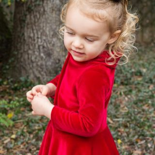 Valentine's Day Toddler Velvet Dress | Noelle by Made for Mermaids