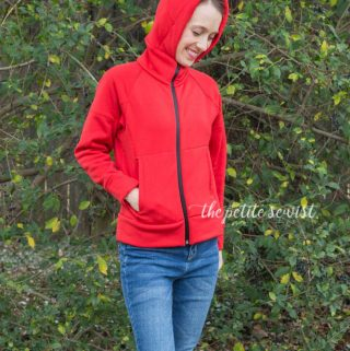 jalie hoodie pattern review by thepetitesewist.com