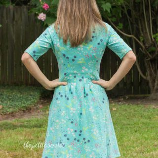 Zadie Dress Pattern Review by thepetitesewist.com