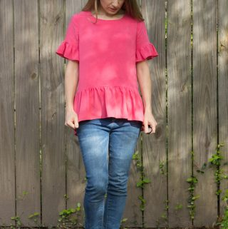 Claiborne Ruffle Top by DIBY Club – Pattern Test