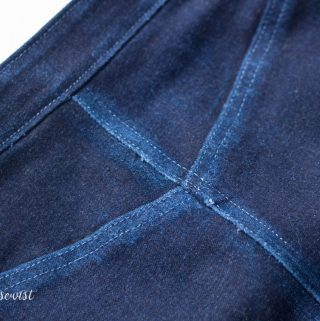 Distressing Denim + Denim Skirt Burda 6769 // Imagine Gnats Guest Post