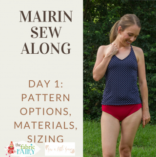 How to sew a tankini - Mairin Sew Along - step by step video tutorial from beginning to end - Mairin Swimsuit by Sew a Little Seam - hosted by thepetitesewist.com