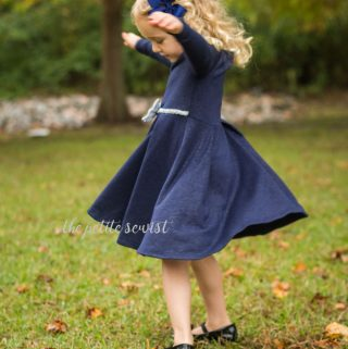 Toddler Christmas Dress: Maggie Peplum
